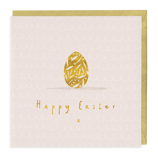 Golden Egg Happy Easter Card