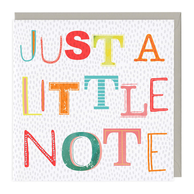 Just A Little Note Neon Card