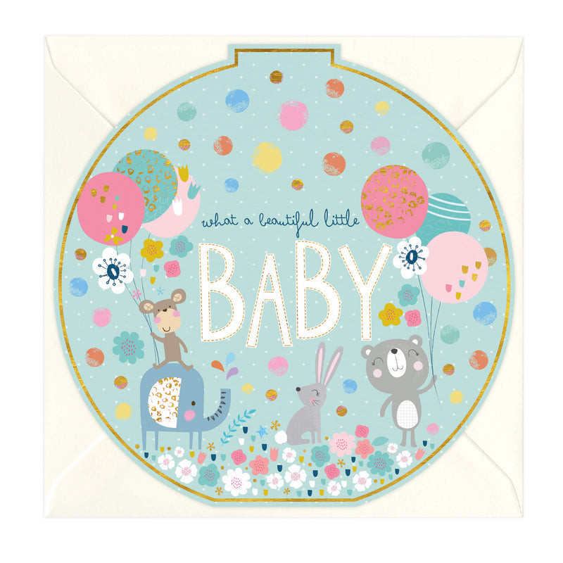Beautiful Little Baby Round Card