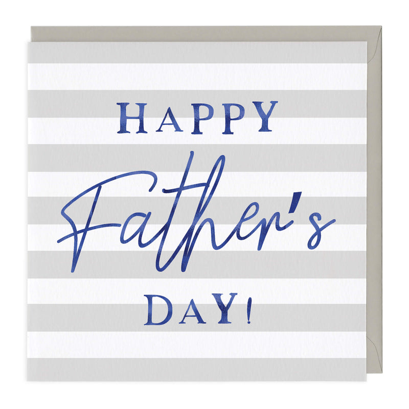 Blue Typography Father's Day Card