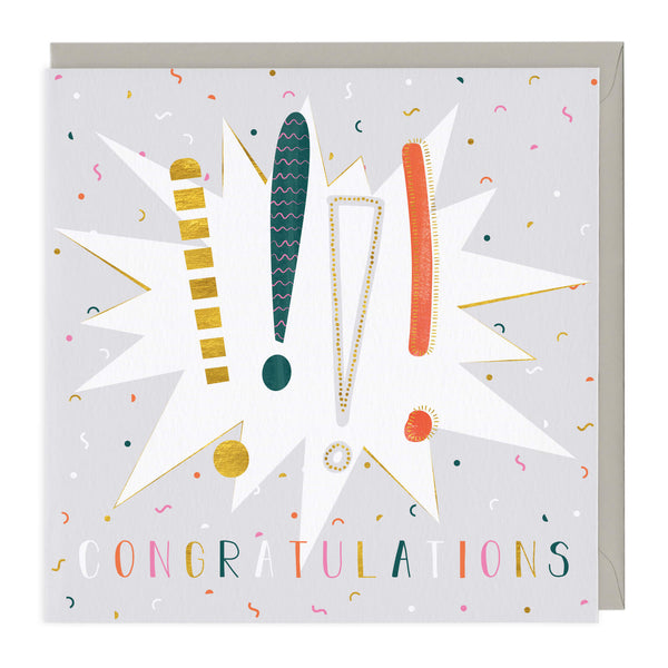 Exclamation Marks Congratulations Card