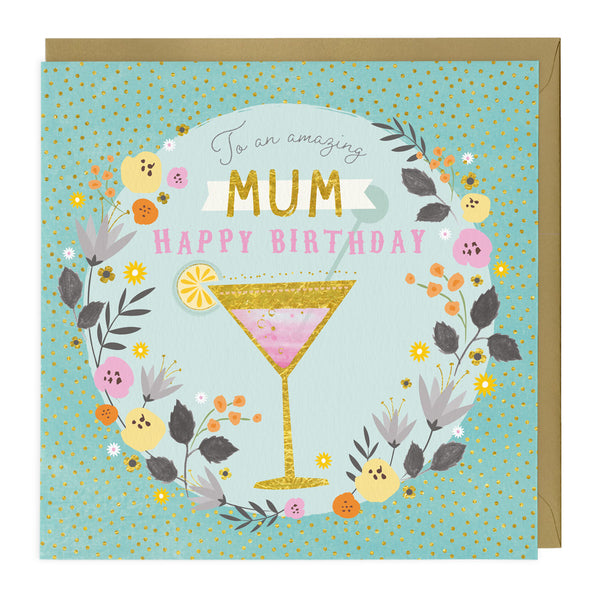 Amazing Mum Cocktails Birthday Card