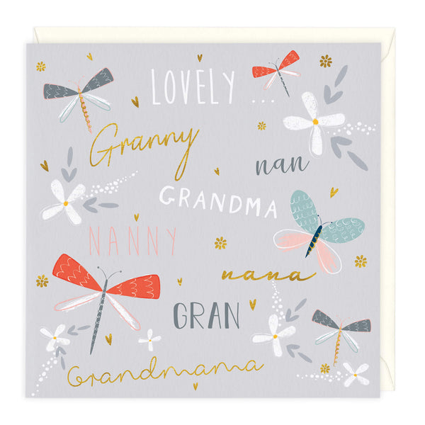 Lovely Granny, Nana Grandma Birthday Card