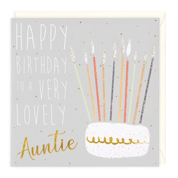 Very Lovely Auntie Birthday Card