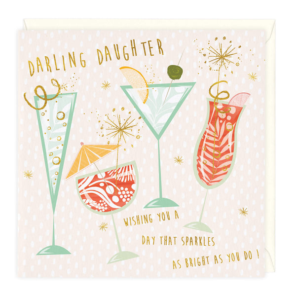 Sparkling Darling Daughter Birthday Card