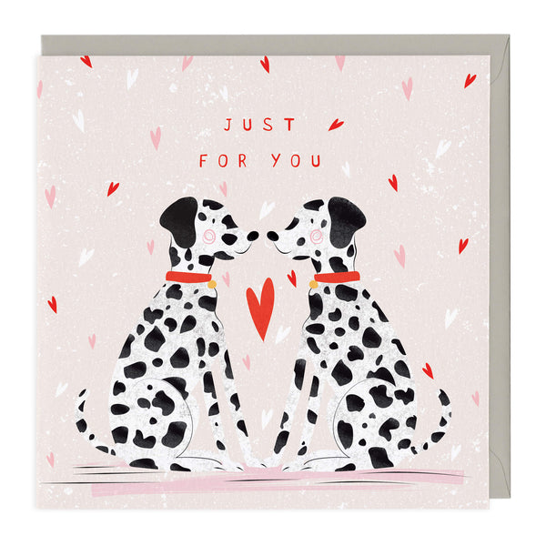 Just For You Dalmatians Card