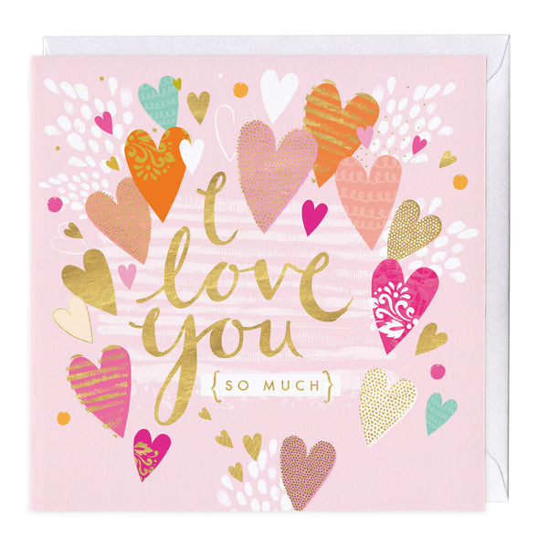Personalised I Love You So Much Card