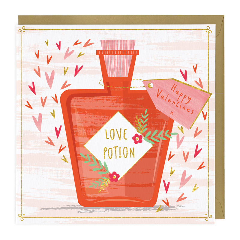 Peronalised Love Potion Valentines Card
