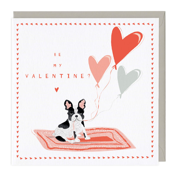 Personalised Pug Be My Valentine Card