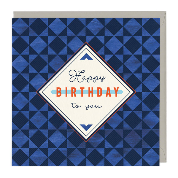 Geometric Happy Birthday To You Card