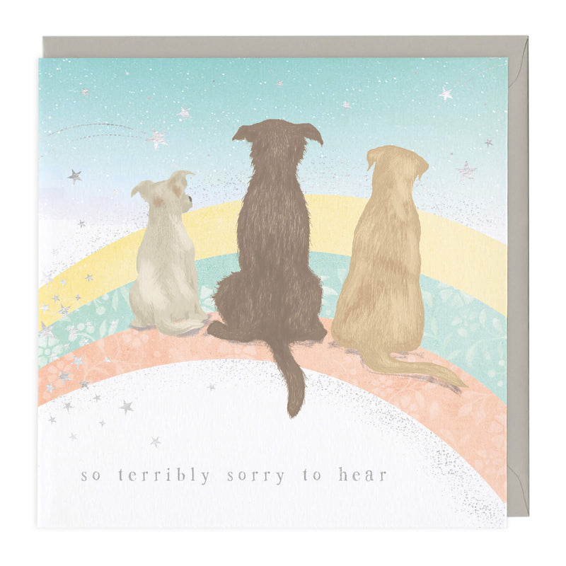 Rainbow Road Pet Sympathy Card
