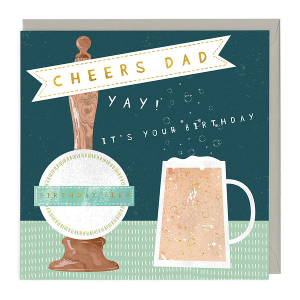Dad's Birthday Beer Card