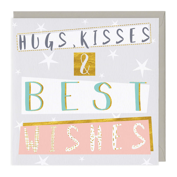 Hugs, Kisses & Best Wishes Card