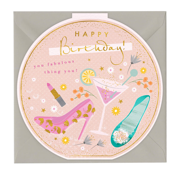 Happy Birthday You Fabulous Thing Round Card