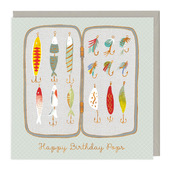 Fishing Gear Happy Birthday Pops Card