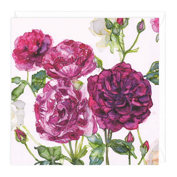 Mixed Roses Floral Art Card