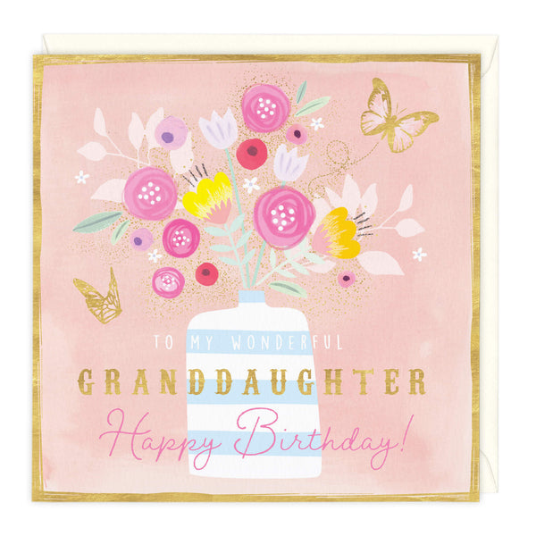 To My Wonderful Granddaughter Birthday Card