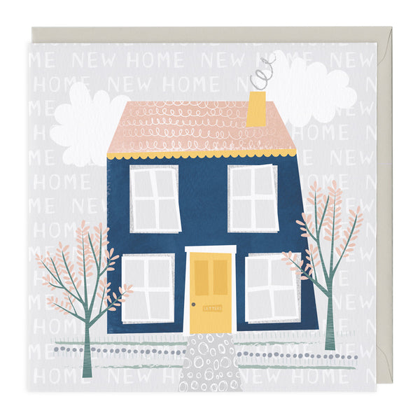 Big Blue House New Home Card