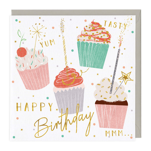 Mmm Cupcakes Birthday Card