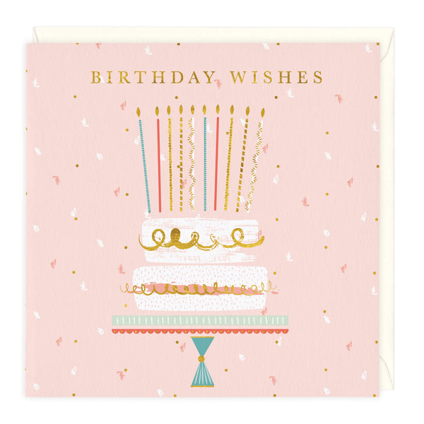 Candles & Cake Birthday Wishes Card