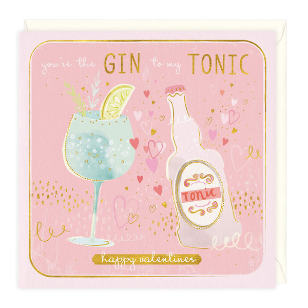 Personalised Gin To My Tonic Valentine's Card