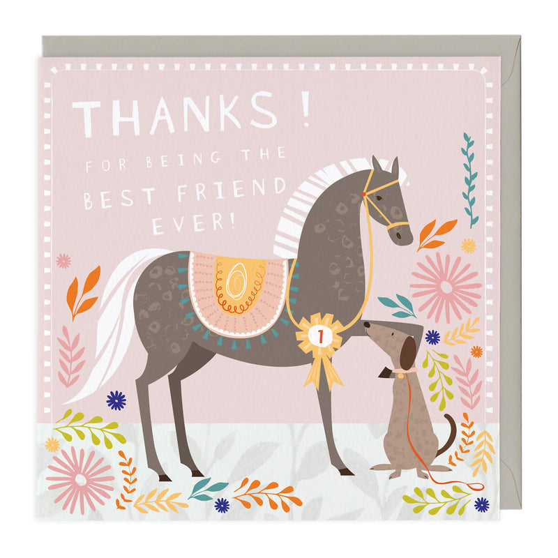 Best Friend Ever Equine Card