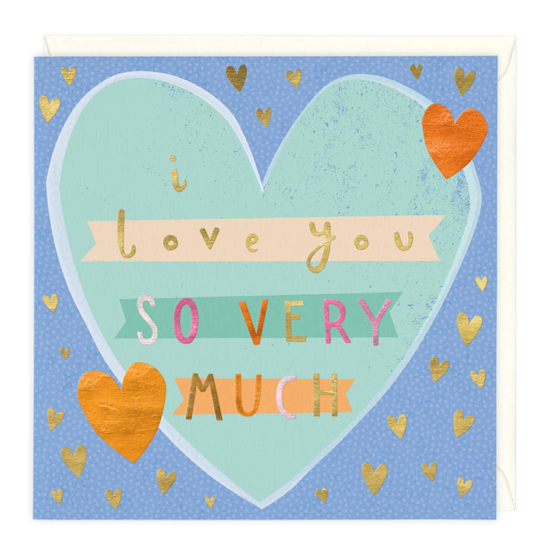 Personalised I Love You So Very Much Card