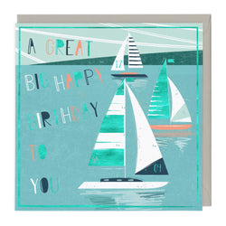 A Great Big Sailing Birthday Card