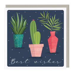 House Plants Best Wishes Card