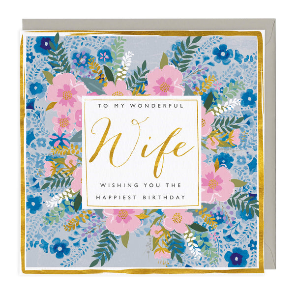 Wonderful Wife Happiest Birthday Card