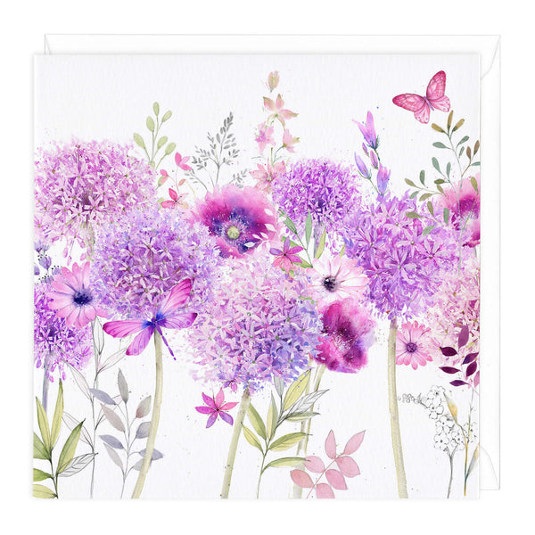 Alliums Meadow Art Card