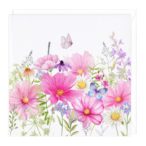 Cosmos Meadow Art Card