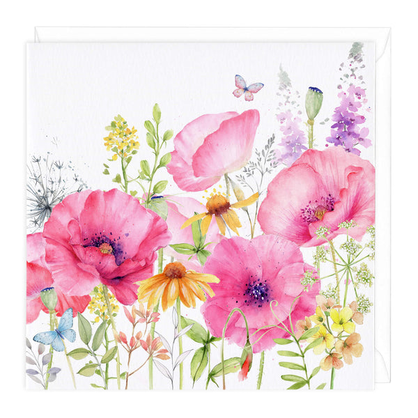 Poppy Meadow Art Card