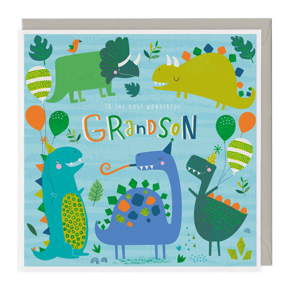 To A Wonderful Grandson Birthday Card