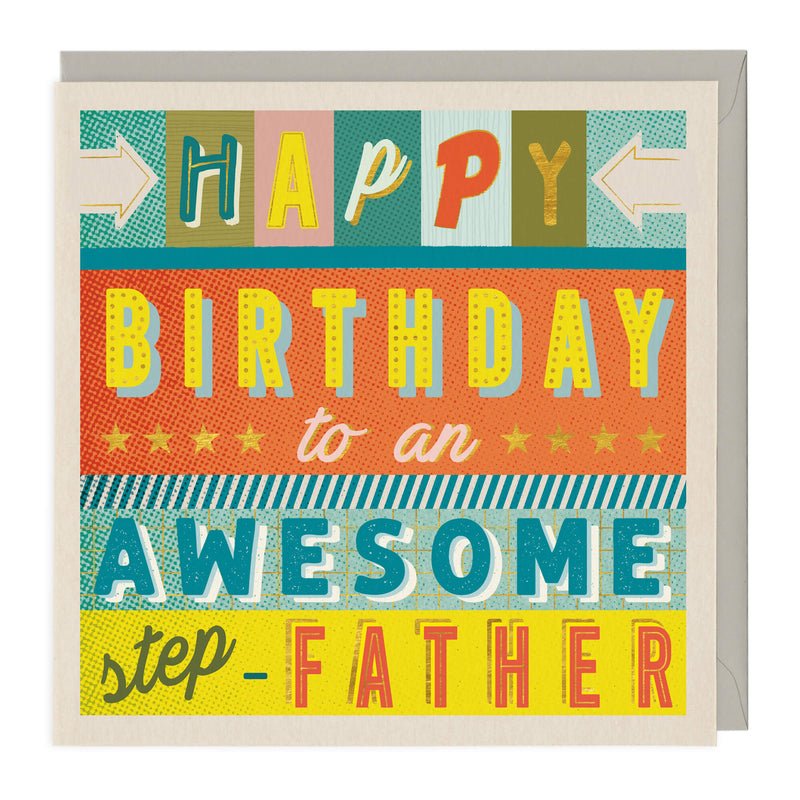 To An Awesome Step-Father Birthday Card