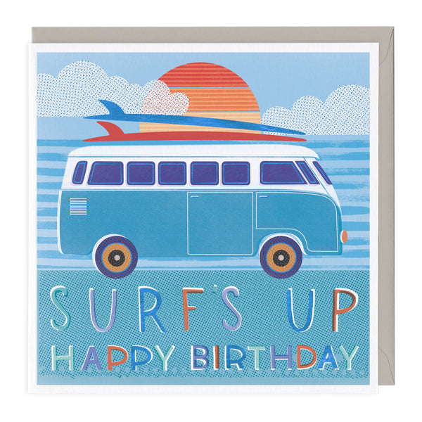 Surf's Up Happy Birthday Card