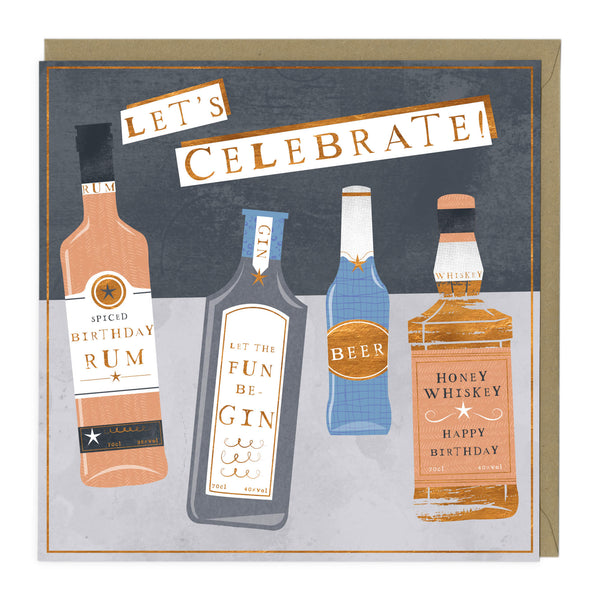 Let's Celebrate with Bottles Birthday Card