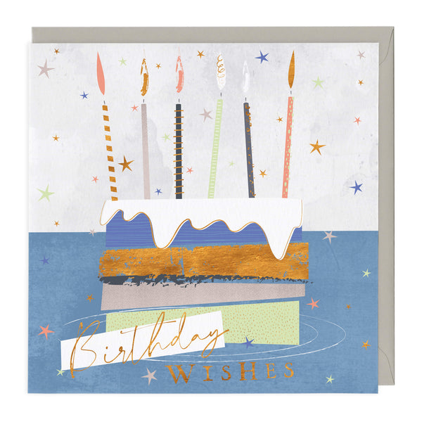 Colourful Cake Birthday Wishes Card