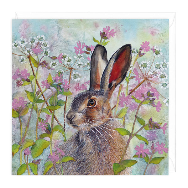 Spring Hare Art Card