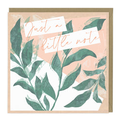 Just A Little Note Tree Card