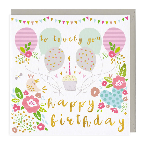 To Lovely You Happy Birthday Card