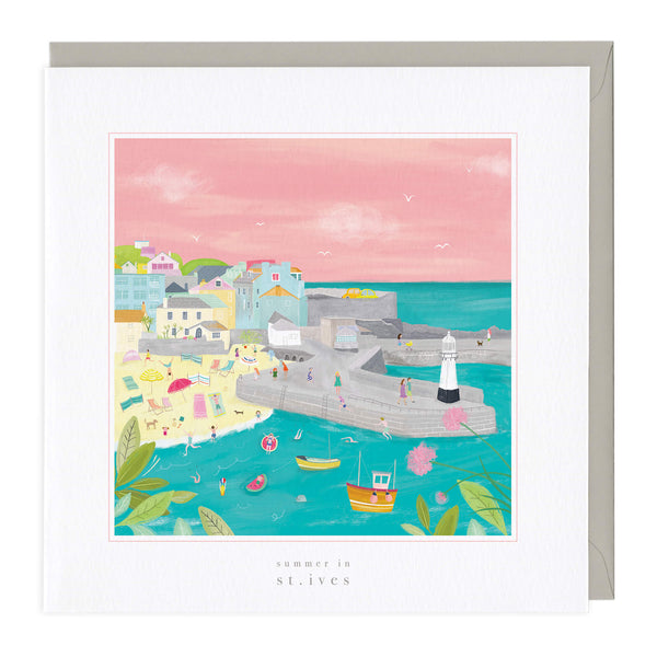 Summer In St Ives Art Card