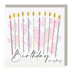Birthday Wishes Candles Card