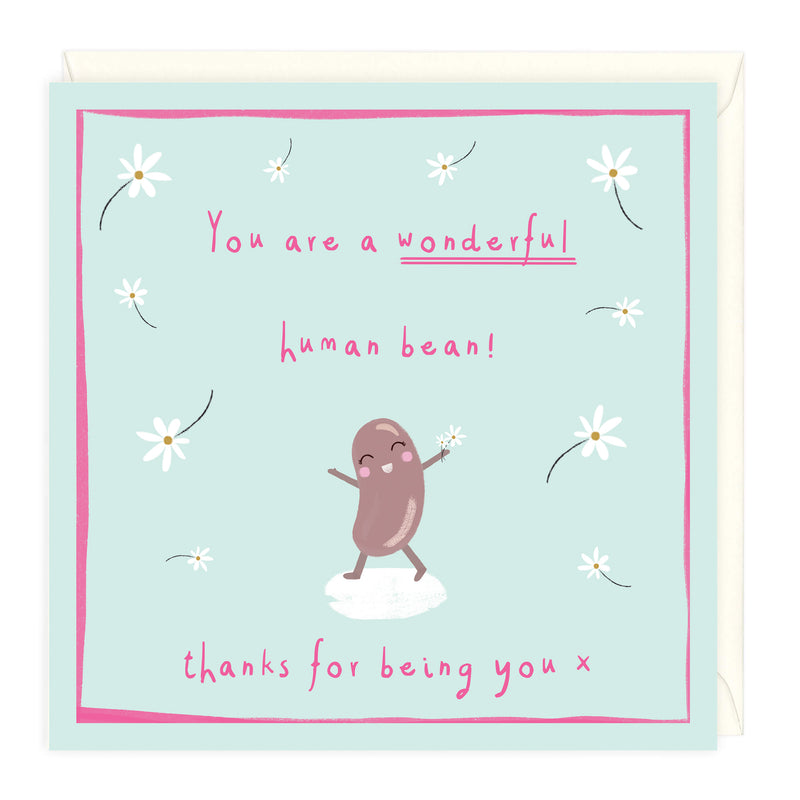Wonderful Human Bean Thank You Card