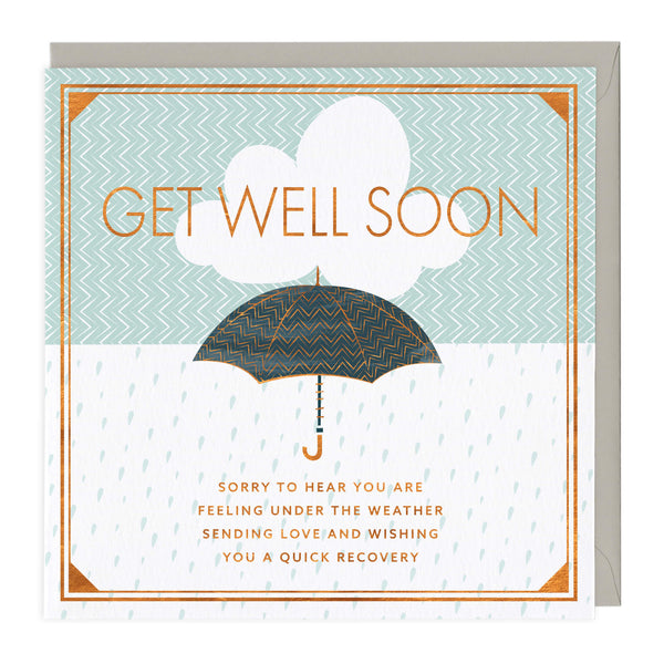 Under the Weather Get Well Soon Card