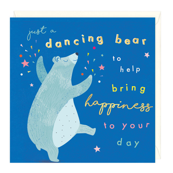 Dancing Bear Happiness Card