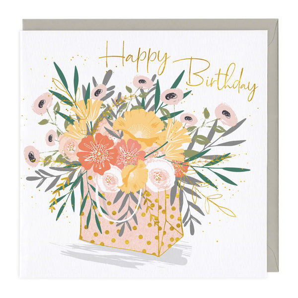 Beautiful Bag of Flowers Birthday Card