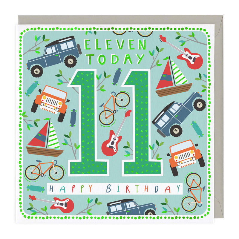 11 Today Adventurers Children's Birthday Card