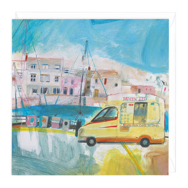 Padstow Summer Ices Art Card