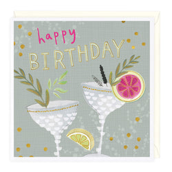 Classy Cocktails Birthday Card